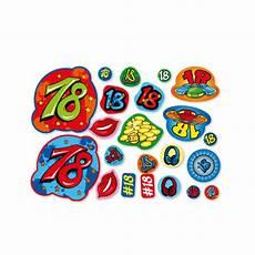 streudeko 18 geburtstag konfetti tischdekoration