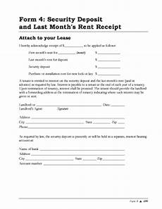 form security rent fill online printable fillable blank pdffiller