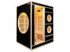 Sauna Infrarouge Prix Sauna Infrarouge 3 4 Places Gamme Prestige Nivala Noir