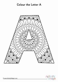 mandala coloring pages letters 17930 letter a colouring pages