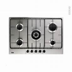 plaque de cuisson 5 feux gaz 75 cm inox faure fgg75524xa