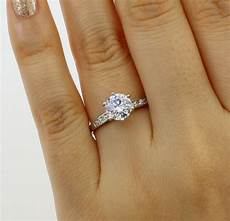 1 25 ct 14k white gold cathedral round engagement wedding