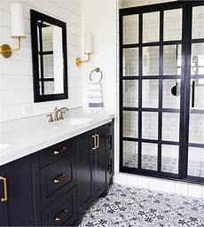 Master Bathroom Ideas Black And White by Black And White Bathroom With Cement Tile Steel