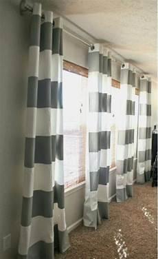 wunderbar gardinen grau wei 223 gestreift vorhang blau weiss