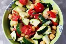 cook play explore garbanzo zucchini and tomato salad