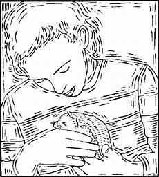 Igel Malvorlagen Gratis Code Mann Mit Igel Ausmalbild Malvorlage Tiere