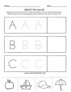 letter a b c worksheets 23975 letter a b c sounds matching phonics worksheets for preschool and kindergarten