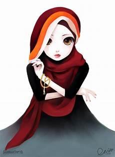 10 Gambar Kartun Muslimah Gambar Top 10