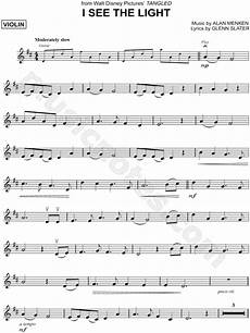 quot i see the light quot from tangled sheet music violin solo in d major download print sku