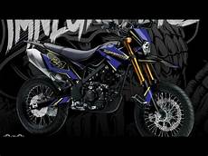 Modifikasi Supermoto by Modifikasi Supermoto D Tracker Klx 150 Striping 2018 01