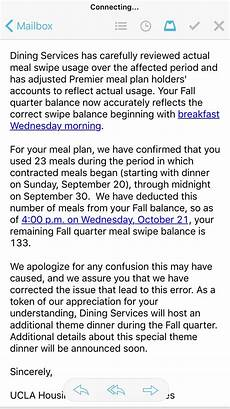 ucla housing meal plan how many swipes students lost in ucla housing s meal plan