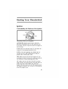 service repair manual free download 1996 ford thunderbird parking system 1996 ford thunderbird research