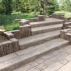 Bahnschwellen Beton Holzoptik - einfach und rasch stufen bauen quot versteinertes holz