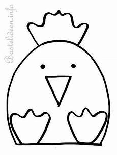 Malvorlage Huhn Ostern Kostenlose Bastelvorlage Henne Bastelvorlagen Ostern