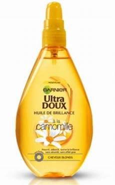 huile de camomille pour cheveux huile de brillance camomille ultra doux garnier soin