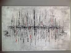tableau moderne noir et blanc tableau abstrait quot r 233 gate quot fond gris et noir avec motifs
