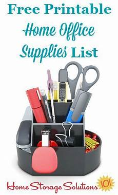 Office Supplies Zurich by Free Printable Home Office Supplies List Educational