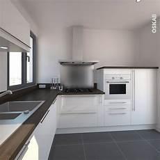 cuisine moderne blanche et bois cuisine blanche moderne fa 231 ade bora blanc brillant