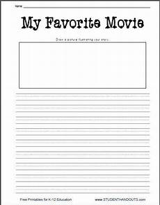 handwriting worksheets 2nd grade 21395 k 2 my favorite free printable writing prompt worksheet with images writing