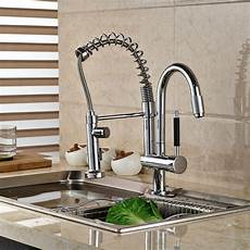 faucets kitchen sink chrome finish brass kitchen sink faucet two spouts kitchen mixer tap 2 spouts kitchen