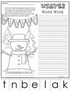 winter phonics worksheets 20073 winter phonics worksheets words primary theme park