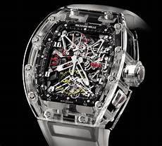 montre richard mille prix 1 65 million de dollars pour la montre rm 56 en saphir transparent ubergizmo