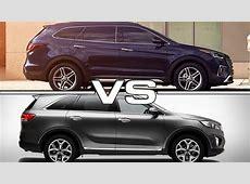 2017 Hyundai Santa Fe Sport vs 2016 Kia Sorento   YouTube