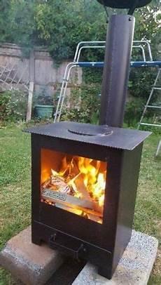 outdoor wood burning stove heater pit garden chiminea
