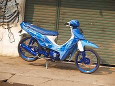 Modifikasi Shogun 110 by Dunia Modifikasi Modifikasi Motor Suzuki Shogun 110 Keren
