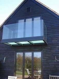 Balcony With Frosted Glazed Floor And Frameless