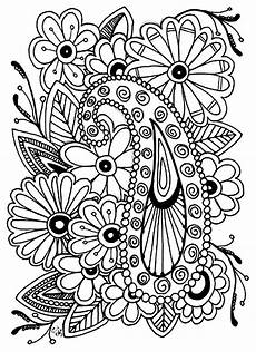 flowers paisley flowers coloring pages