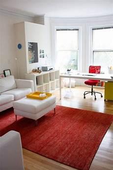 Desk In Living Room Apartment