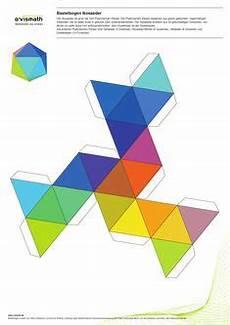 Kinder Malvorlagen Kariertes Papier Icosaedro Prismatriangular Recortable Figuras Geometric