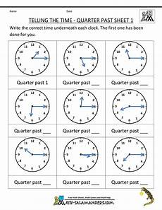 free time worksheets quarter to and quarter past 3161 2nd grade math practice telling the time quarter past 1 gif 790 215 1 022 pixels telling time