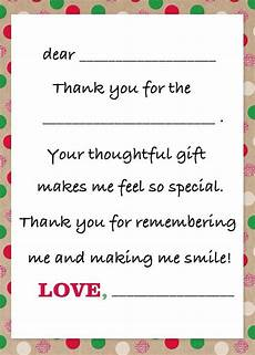 gift thank you note from child birthday cards