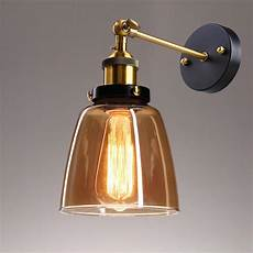 vintage industrial country style 5 5 quot wall sconce light wall l w glass shade