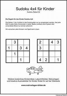 kinder sudoku zum ausdrucken
