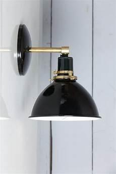 black shade brass wall sconce light brass wall sconce