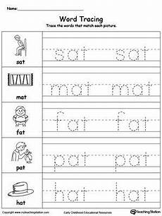two letter words worksheets for kindergarten 23538 word tracing at words with images word family worksheets