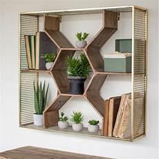 wandgestaltung mit regalen honeycomb wall shelf cmx2287