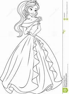 Ausmalbilder Prinzessin Fee Coloring The Beautiful Princess Stock Vector