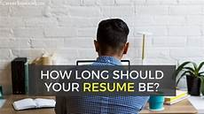 how many pages should your resume be in 2020 free