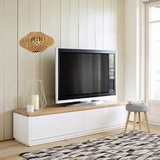 meuble tele scandinave maison du monde meuble tv en ch 234 ne massif blanc l 180 cm austral maisons