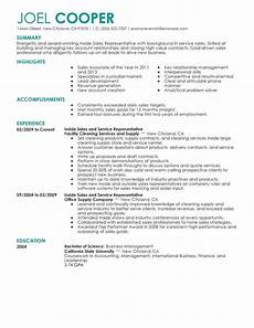 best inside sales resume exle livecareer education