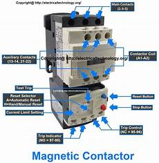 rated characteristics of electrical contactors electrical technology