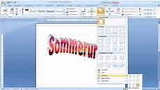 word 2007 wordart text mit bildern hinterlegen