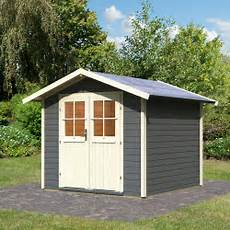 karibu gartenhaus usedom 28 mm grau kaufen bei