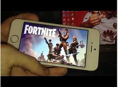 JOUER A FORTNITE SUR IPHONE 5S !   YouTube