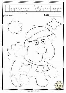 winter pre writing worksheets 20124 winter trace and color pages motor skills pre writing motor skills pre writing