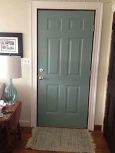 diy painted door in progress